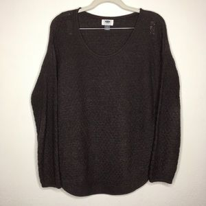 Old Navy Textured Curve Hem Pullover Sweater M